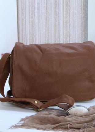 Обалденная сумка кроссбоди lakeland, кожа!
