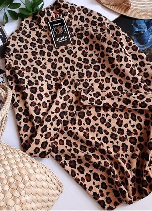 Стильная водолазка в анималистический принт, леопард, новая! свитер от jennifer, s/m