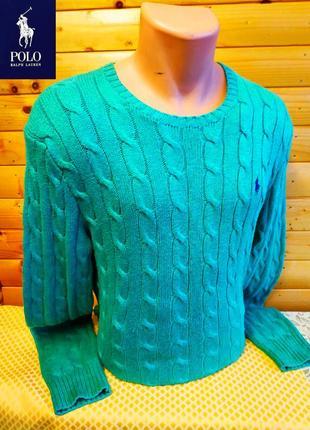 Мягкий, теплый свитер  с круглым  вырезом горловины от polo ralph lauren, оригинал.