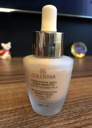 Тональный крем {основа} collistar serum foundation perfect nude