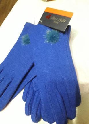 Итальянские подростковые шерстяные перчатки