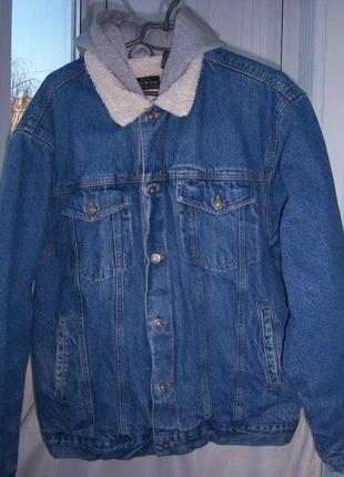 Джинсовая зимняя  куртка  размер  l   moose  creek