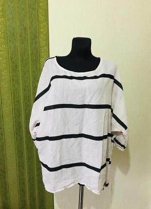Блузка/туника в полоску большого размера