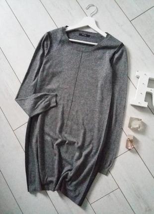 Сдержанное платье миди тонкой вязки..# 84