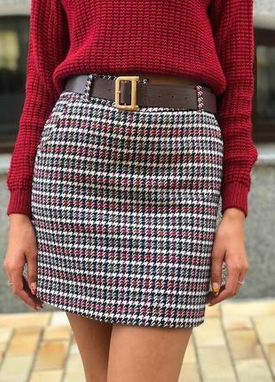 Женская юбка из твида