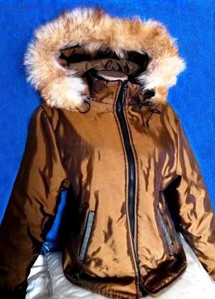 Шикарная куртка женская lenvit новая зимняя для катания на лыжах и на каждый день