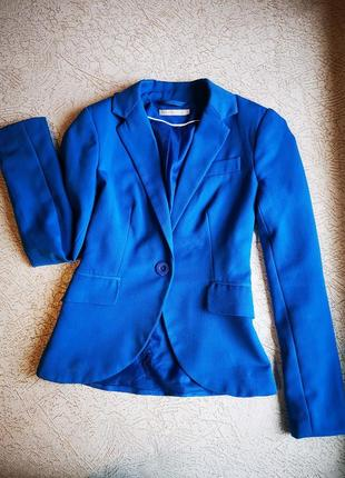 Пиджак светло-синий  однобортный