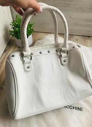 Крутая брендовая итальянская белая сумка с черепом 🤘🏻