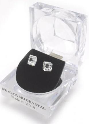 Срочно❗️серьги гвоздики swarovski crystals 7 mm