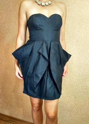 Шикарное коктейльное шелковое платье бренд warehouse