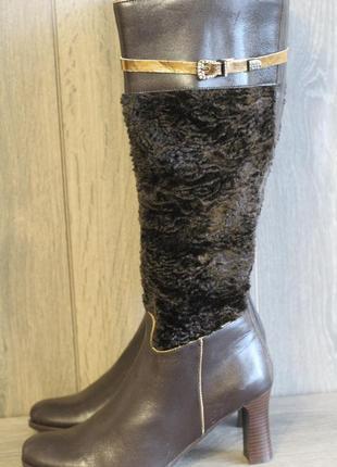 Шикарные кожаные сапоги baldowski с камнями сваровски
