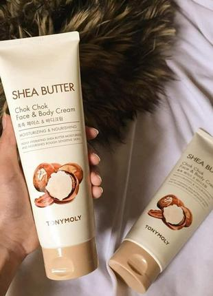 Крем для кожи тела и лица tony moly shea butter chok chok face & body cream