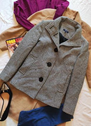 Пальто полупальто черное белое серое прямое шерстяное шерсть  debenhams