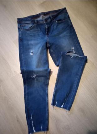 Zara брендовые брюки джинсы
