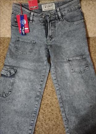 Новые бриджи джинсовые