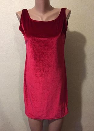 Велюровое бархатное короткое платье