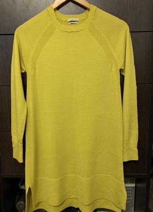 Тёплое платье.удлиненная кофта из мериносовой шерсти.benetton-отригинал