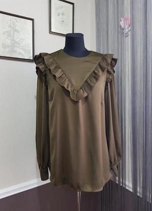 Блуза с рюшами h&m