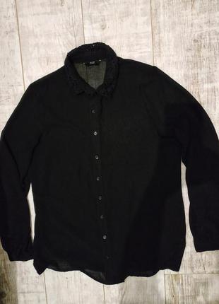 Черная блуза f&f