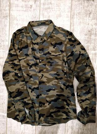 Блуза, рубашка милитари, хаки cropp
