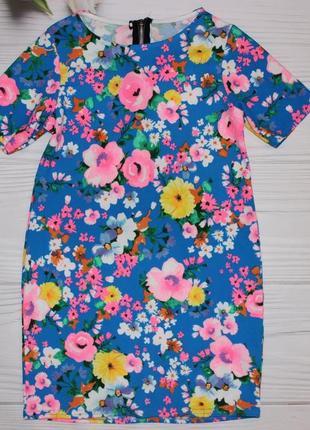 Красочное яркое платье размер xs