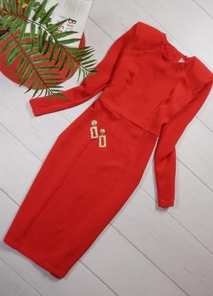 Шикарное платье миди из фактурной ткани от asos