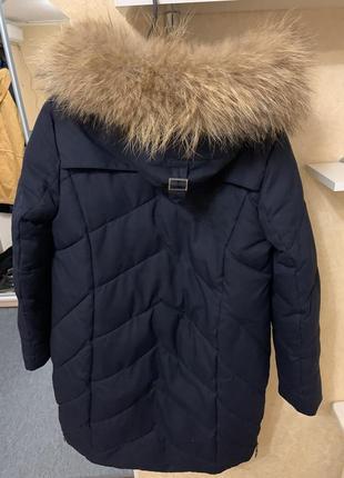 Button зимняя удлинённая куртка