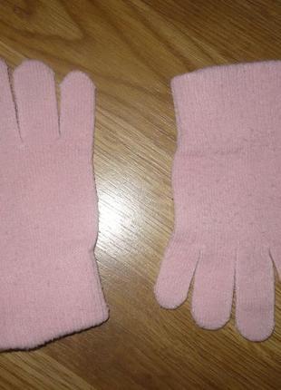 Перчатки розовые 104-110р.
