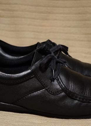 Легкие комфортные черные кожаные мокасины next англия 45 р.