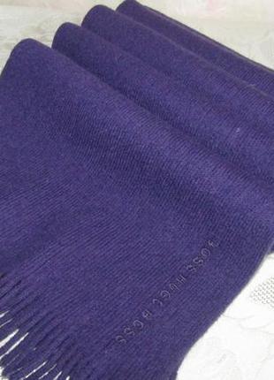 - hugo boss - шикарный , теплый шарф 100 % шерсть