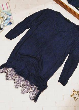 Свитер пуловер кофточка реглан с кружевом george