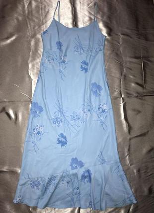 Шёлковое винтажное платье комбинация