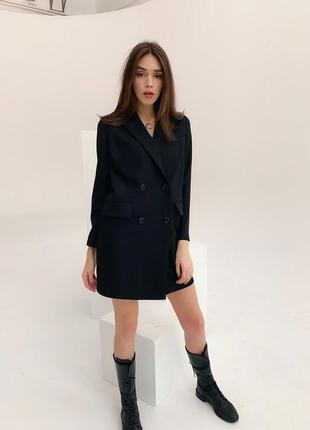 Платье пиджак черное2 фото