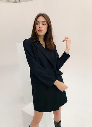 Платье пиджак черное3 фото