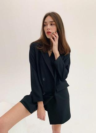 Платье пиджак черное5 фото