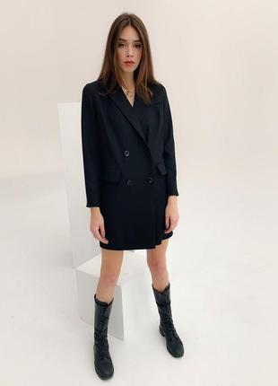 Платье пиджак черное8 фото