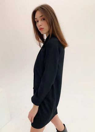 Платье пиджак черное9 фото