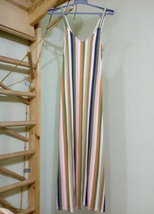 Трикотажное платье в пол