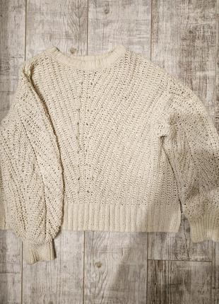 Объемный свитер, кофта h&m