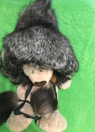 Меховая шапка чернобурка