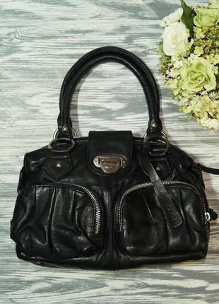 Clarks. кожа. практичная сумка в классическом стиле