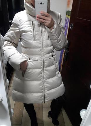 Класнючее пальто пухан пух перо
