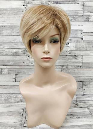 Парик короткий блонд 3712
