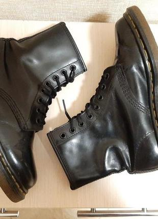 Оригинальные чёрные кожаные ботинки,черевики мартенсы dr martens made england,унисекс✔