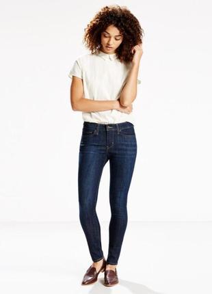 Синие levi's высокая талия мом джинсы темно-сині джинси скіні прямий крій висока талі