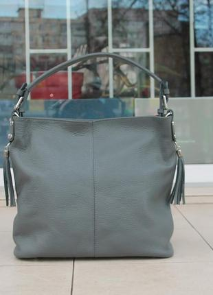 Мягкая женская сумка италия натуральная кожа