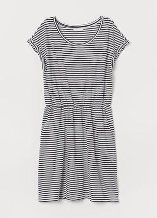 Платье в полоску на резинке h&m