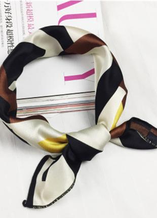 Платок платочек бант лента для волос на сумку топ-качество айвори шоколадный новый