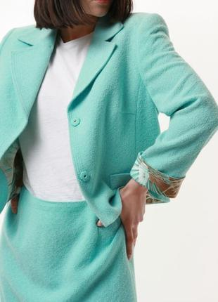 Редкий винтажный винтаж костюм юбка-карандаш пиджак блейзер escada 1268