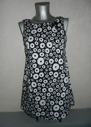 S/m-38/40 river island стильное платье в горох, стрейчкоттон. новое!